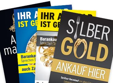 DIN A1 Plakate Altgold, Recycling, Goldankauf